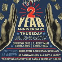2 Year Anniverary  HIGH FIVES  JUNE 8