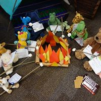 When the Library Lights Go Out - A Stuffed Animal Sleepover