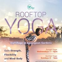 Rooftop Sunrise Yoga at myVillage Serangoon Gardens
