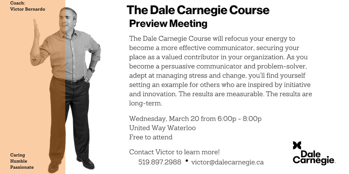 Dale Carnegie Course - Preview Meeting (Kitchener)