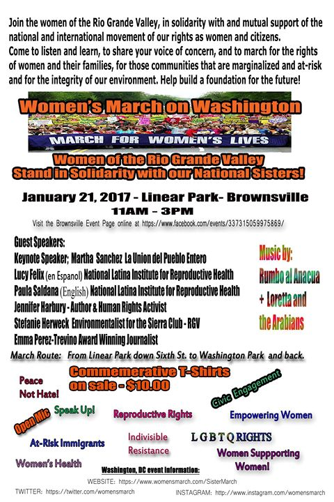brownsville women We are officially recognized with the women's march on washington standing together in solidarity with our sisters and their partners on this day in january 21, 2017.