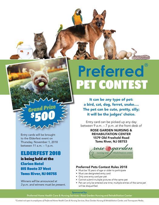 Preferred Pet Contest At Clarion Hotel Conference Center Jersey