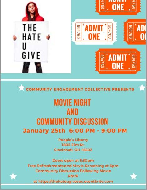 The Hate U Give Movie Screening and Community Discussion