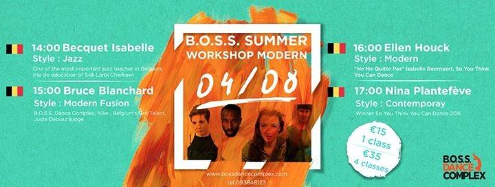 BOSS Summer Workshops Modern