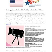 Filmmaking Workshop at American Corner US Consulate on GBV