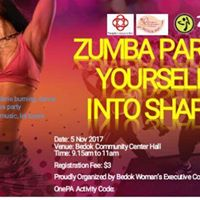 Zumba Party at Bedok Community Center Hall