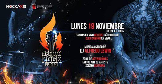 Lunes 19 Rockaxis presenta Apetito de ROCK
