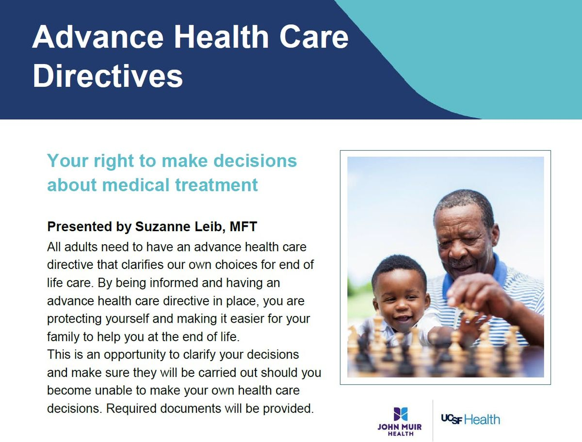 Advance Health Care Directives at John Muir Health/UCSF