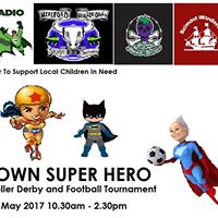 Be Your Own Super Hero - Roller Derby &amp Football Tournament