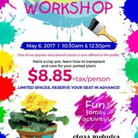 Clay Pot Painting and Planting Class