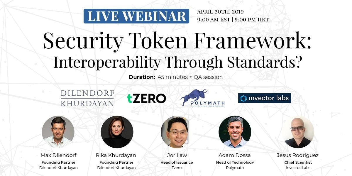 Security Token Framework Interoperability Through Standards  Live Webinar  Stockholm Sweden
