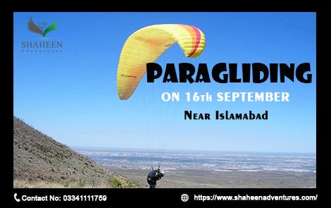 Paragliding with Shaheen Adventures