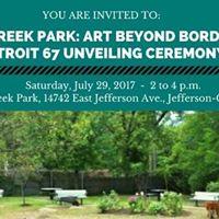 Fox Creek Park Art Beyond Borders Detroit 67 Unveiling Ceremony