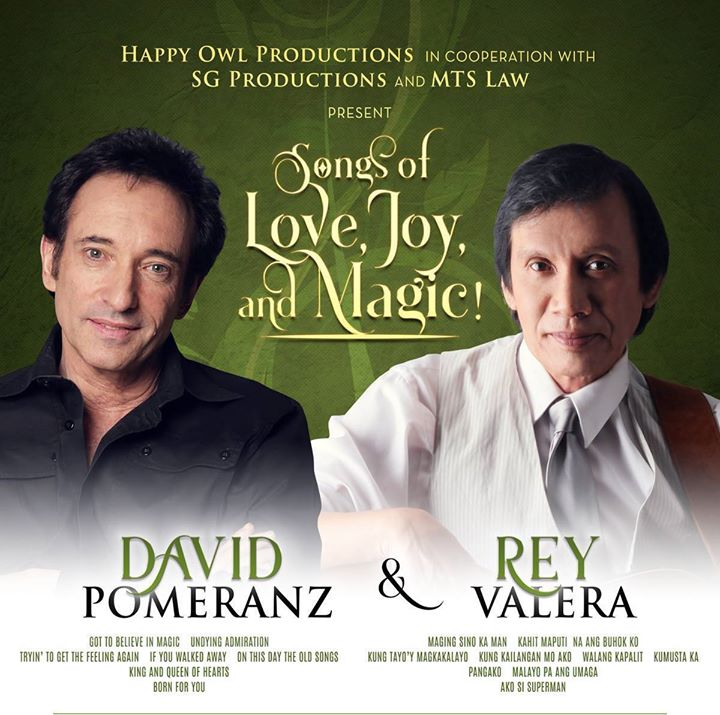 Songs of Love Joy and Magic with DAVID Pomeranz and REY Valera