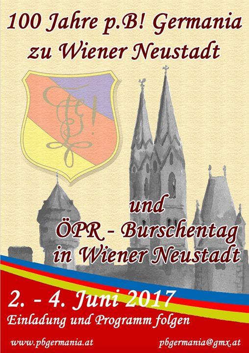 PR-Burschentag  100 Jahre Germania Wr. Neustadt
