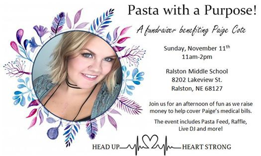 Pasta With A Purpose Fundraiser For Paige Cote At Ralston Middle