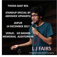 Abhishek upmanyu stand up comedy show