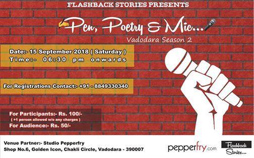Pen Poetry & Mic ( Vadodara Season 2 ) at Studio Pepperfry