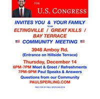 Eltingville  Great Kills  Bay Terrace  Community Meeting