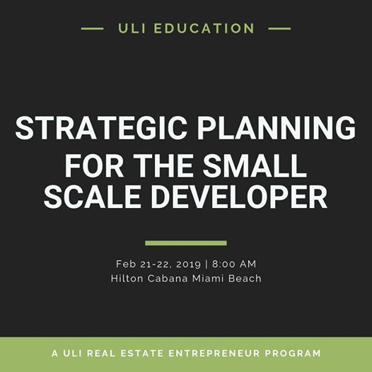 Strategic Planning for Small Scale Developers