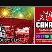 Free Canada Day BBQ at The Billiard Club motionball fundraiser