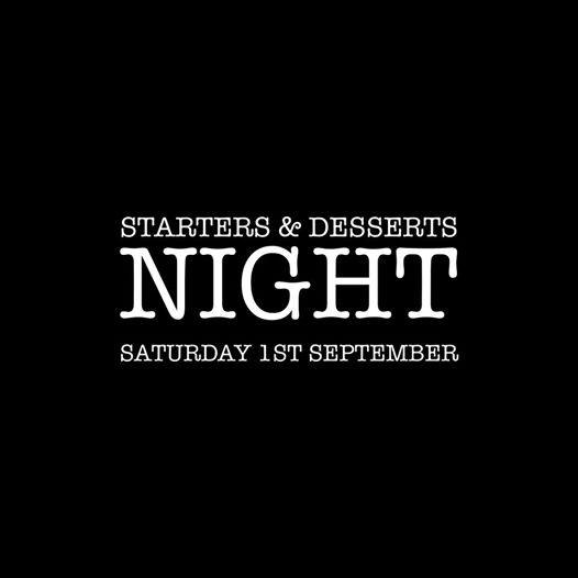 Starters & Desserts Sample Night