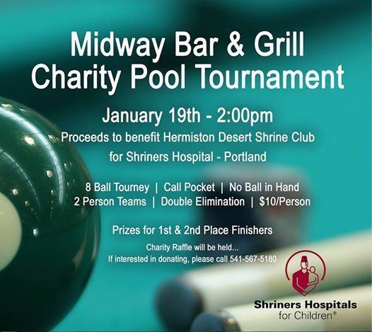 Shriners Charity Pool Tournament at Midway Bar & Grill, Oregon
