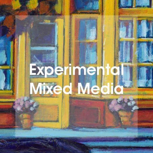 Paint  Learn 4 Week Class - Experimental Mixed Media