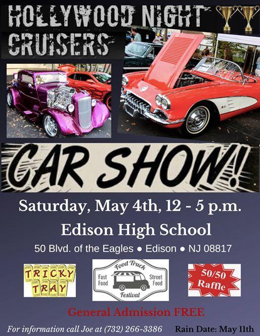 Edison HighSchool Car Show at Hollywood Night Cruisers, Metuchen