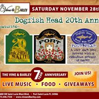 The Vine &amp Barley 7 Year Anniversary DOGFISH HEAD TAKEOVER