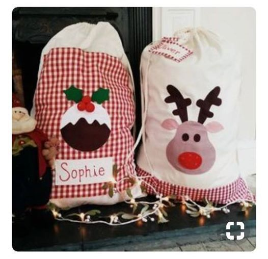 SEW A Monogrammed Father Christmas GIFT SACK (2 dates available) at ...