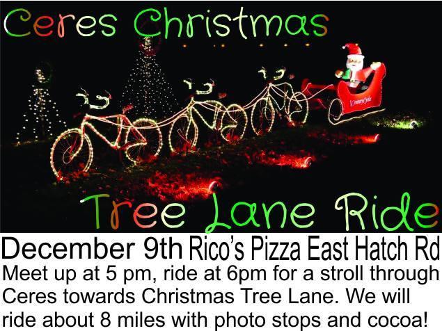bicycle ride to christmas tree lane ceres - Christmas Tree Lane Modesto Ca