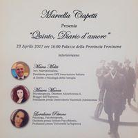 Presentazione &quotQuinto diario damore&quot di Marcella Ciapetti