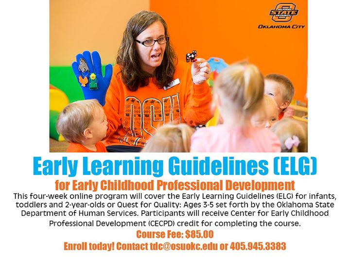 December Online Early Learning Guidelines Elg Class At Osu Okc