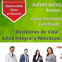 Curso Internacional Certificado &quotDecisiones de Vida&quot Salud Integral y Neurocoaching