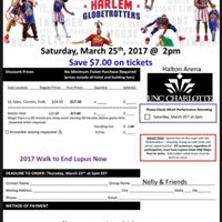 Come see the Harlem Globetrotters and Support the Lupus Foundation