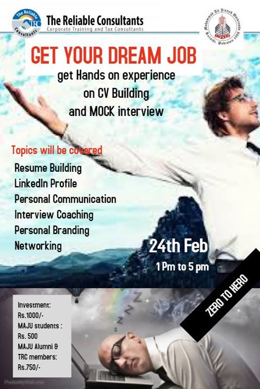 Get your dream job (training on CV building and Mock interview)