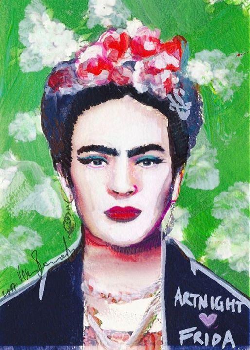 ArtNight Frida Kahlo vor grner Wand am 18062019 in Bonn