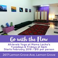 Go with the Flow Yoga at Mama Lachos