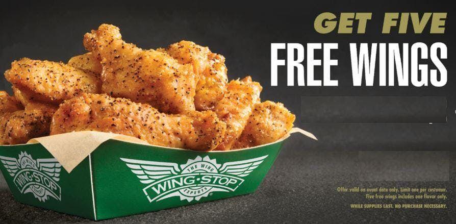West Ashley (Charleston) Wingstop GET 5 FREE WINGS