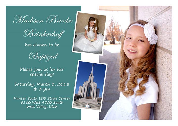 Madisons Baptism