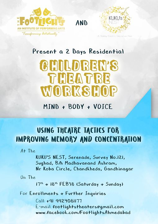 2 day Residential Workshop for children