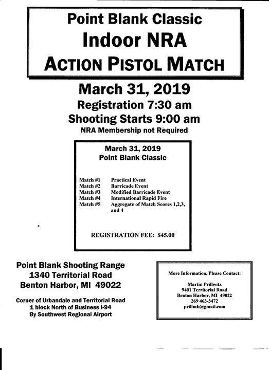 Indoor NRA Action Pistol Match