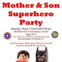 Mother &amp Son Superhero Party