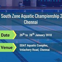 30th South Zone Aquatic Championship 2017 Chennai