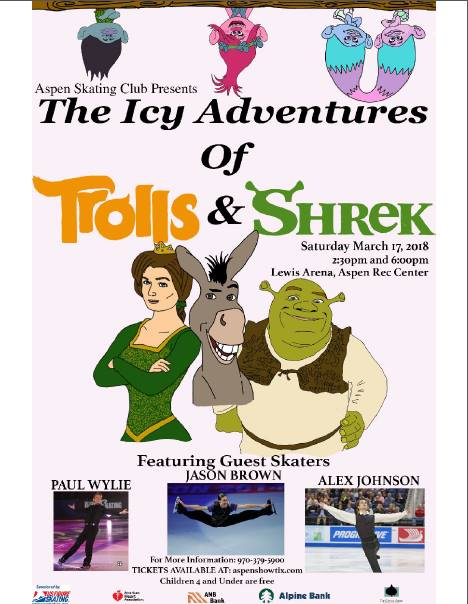 Aspen Skating Club Show The Icy Adventures of Trolls and Shrek