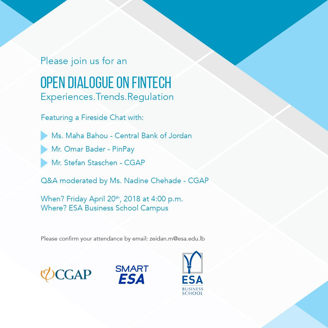 Open Dialogue on Fintech Experiences . Trends . Regulation