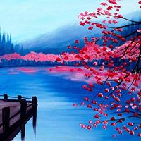 Wine &amp Canvas Pink Reflection