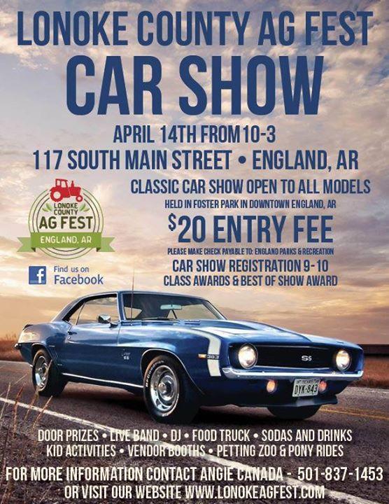 Lonoke County Ag Fest Car Show At S Main St England AR - Car show england