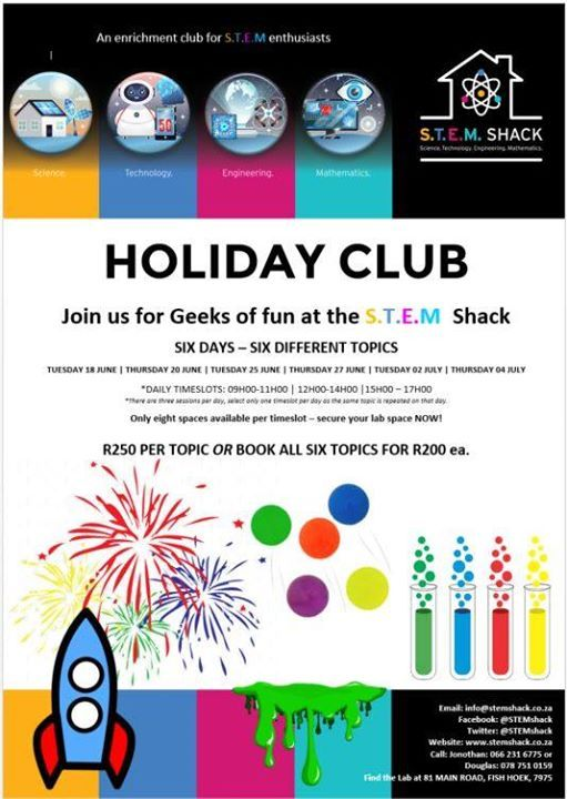 Holiday Club for STEM Enthusiasts at STEM Shack, Mitchell's Plain